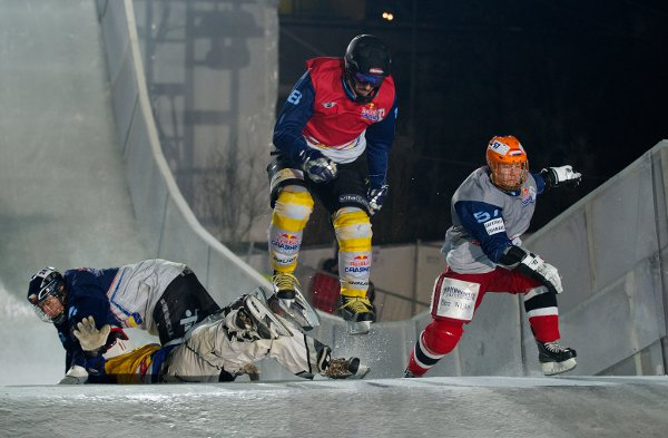 Red Bull Crashed Ice Valkenburg 2012.  Foto: Andreas Schaad/www.redbullcontentpool.com
