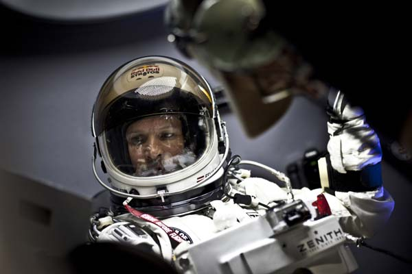 Red Bull Stratos.  Foto: Christian Pondella/ Red Bull Content Pool