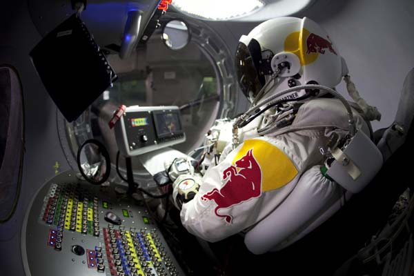 Red Bull Stratos.  Foto: Jay Nemeth/ Red Bull Content Pool