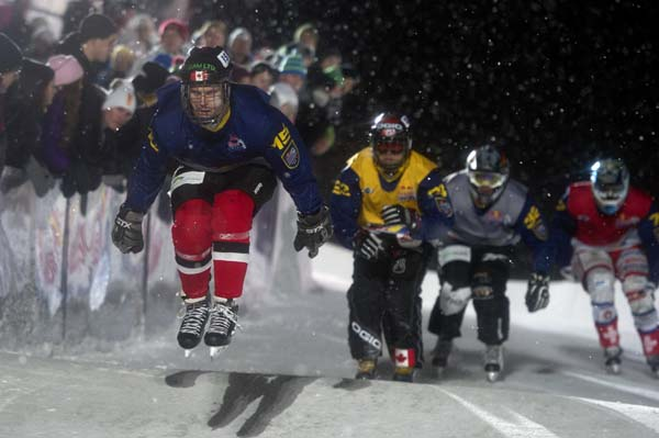 Red Bull Crashed Ice Championship Are 2012.  Foto: Andreas Schaad/Red Bull Content Pool