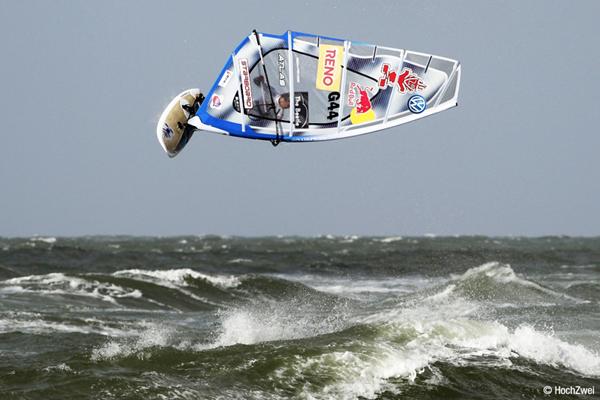 Action beim Windsurf World Cup Sylt