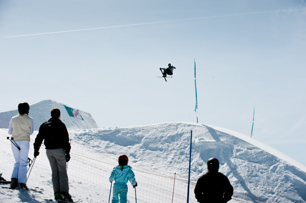 Swisscom Freeski Tour 2012 Les Les Crosets.  Foto: Ruedi Flück