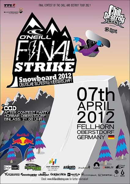 Chill and Destroy Tour 2012 Final Strike.  Foto: www.chillanddestroytour.com