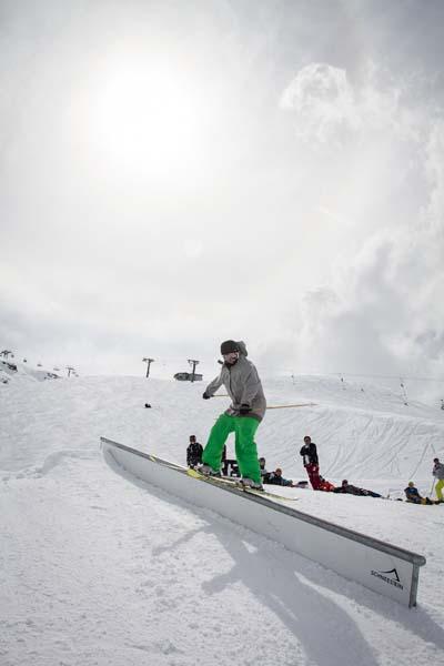 Deutsche Freeski Meisterschaft Kühtai 2012.  Foto: Michael Doerfler