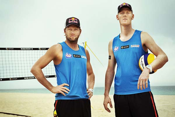 Deutsches Beachvolleyball Nationalteam auf Fuerteventura.  Foto: rutgerpauw.com/ Red Bull Content Pool