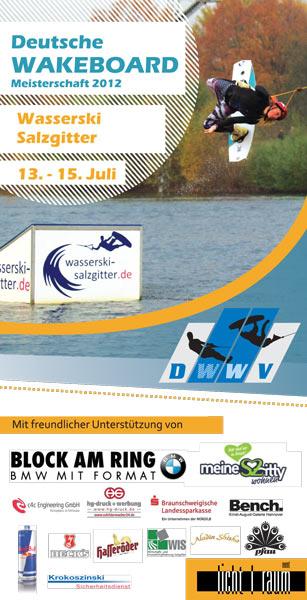 Deutsche Wakeboard Meisterschaft 2012 Flyer Foto: Salzgitter Wasserski GmbH.