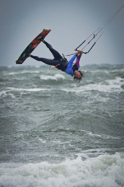 Rider: Mario Rodwald Foto: Kitesurf World Cup 2012.