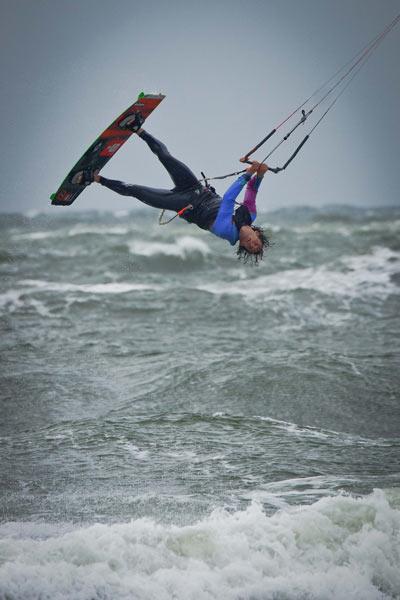 Rider: Mario Rodwald Foto: Kitesurf World Cup 2012.