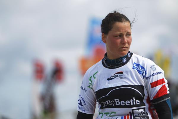Christine Bönniger beim Kitesurf World Cup 2012 in St. Peter-Ording.  Foto: HOCH ZWEI / Philipp Szyza