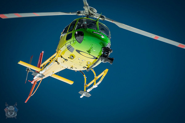 Helikopter beim Swatch Skiers Cup. Foto: D. Carlier