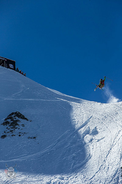 Chopo Diaz beim Swatch Skiers Cup.  Foto: D. Daher