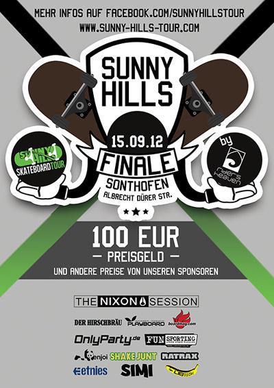 Sunny Hills Skateboard Tour Finale Sonthofen.  Foto: Veranstalter