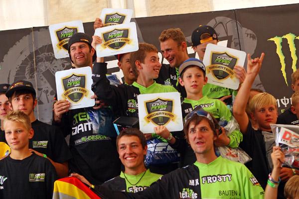 DAMCV die gewinnt die Teamwertung bei den Cross Finals 2012.  Foto: Steve Bauerschmidt