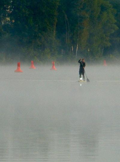 Mit dem Licht kam der Nebel.  Foto: Veranstalter