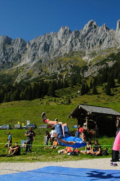 Slackline Festival Livingroom Hochkönig.  Foto: Johnny Morano
