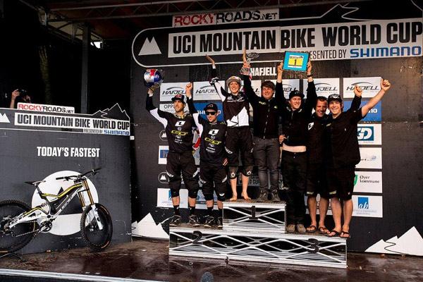 UCI MTB Downhill-Worldcup Hafjell.  Foto: Sven Martin