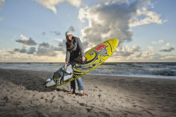Caro Weber beim Windsurf World Cup Sylt.  Foto: Sebastian Schöffel / HOCH ZWEI
