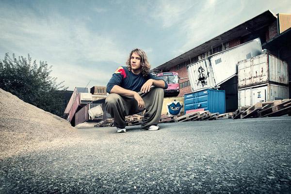 Jason Paul Human Domino.  Foto: Red Bull Content Pool