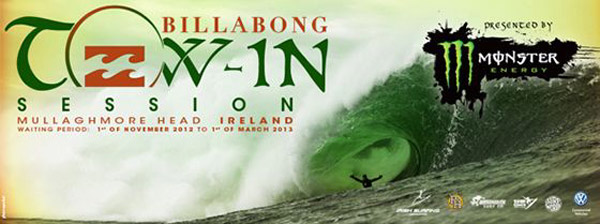 Billabong Tow-In Session Irland 2012.  Foto: Veranstalter