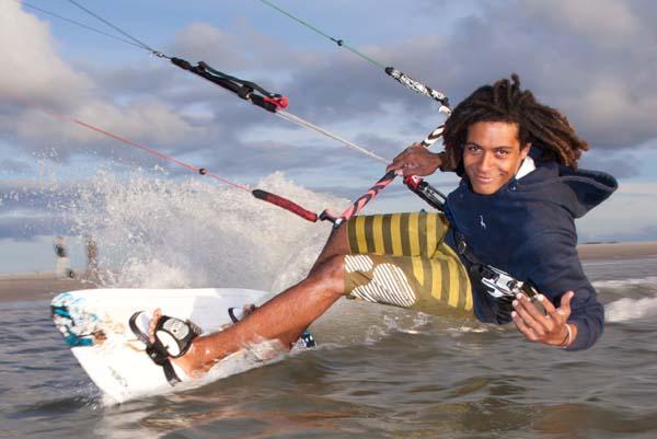 Deutscher Kite Landboarding Meister: Emmanel Norman.  Foto: C. Hokerma