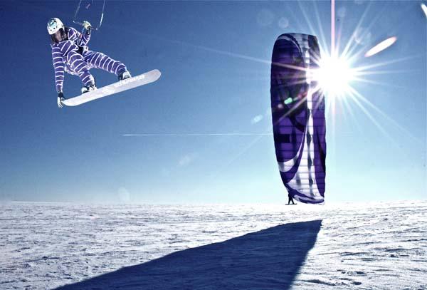Deutscher Kite Landboarding Meister: Emmanel Norman.  Foto: D. Bielefeld