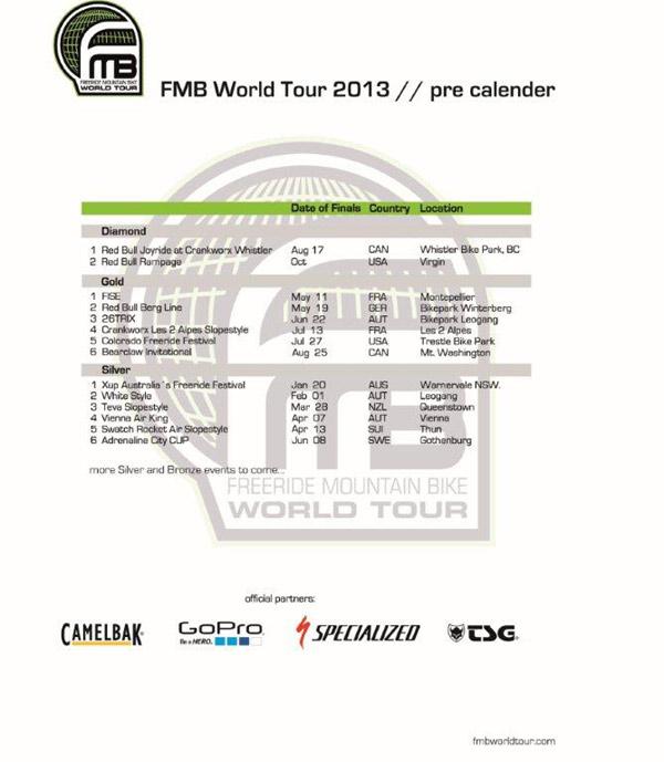FMB World Tour 2013.  Foto: Veranstalter