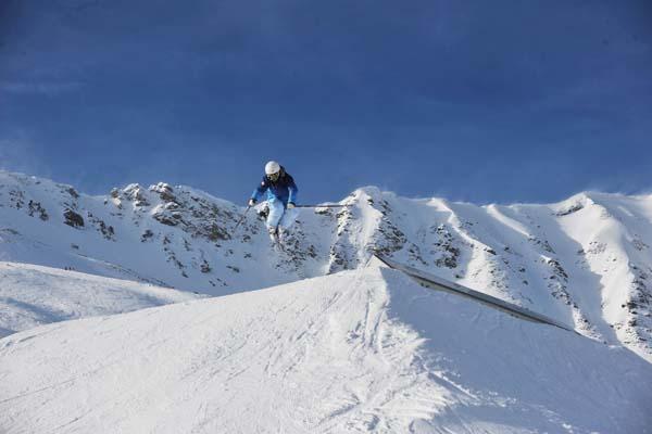 Metallsession Snowpark Lenzerheide.  Foto: Martin Rittmeyr/QPark