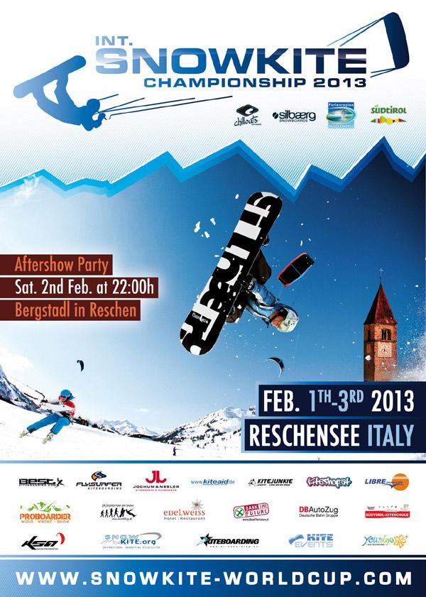Internationale Snowkite Meisterschaften.  Foto: Veranstalter