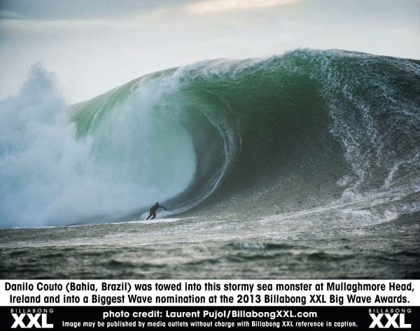 Nominiert für den Biggest Wave Award: Danilo Couto.  Foto: Laurent Pujol/BillabongXXL.com
