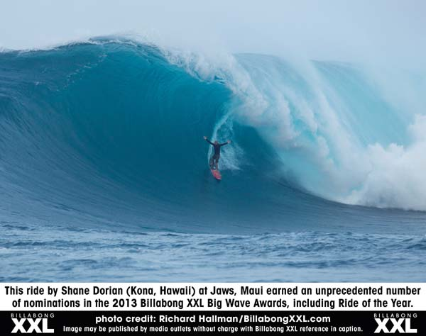 Billabong XXL Awards: Shane Dorian.  Foto: Richard Hallman/BillabongXXL.com