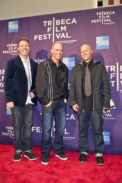 Weltpremiere von McConkey bei Tribeca 2013: Murray Wais, Scott Gaffney und Steve Winter, die Regisseure.  Foto: Veranstalter