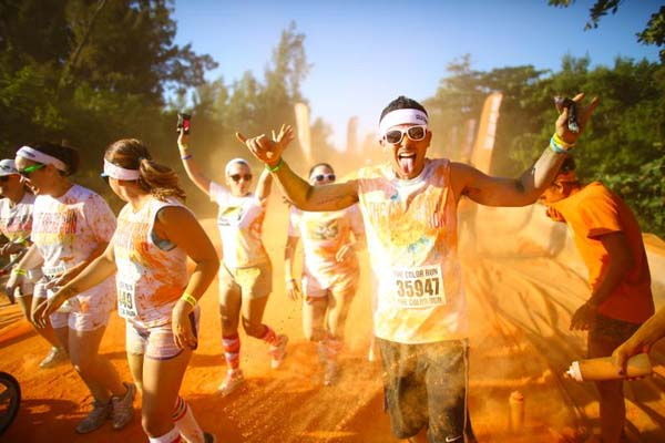 The Color Run.  Foto:  THE COLOR RUN™ - fit with REEBOK