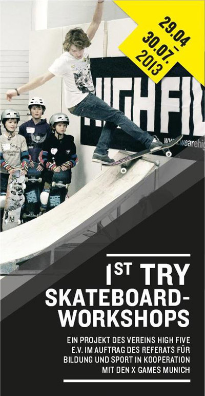 1st Try Skateboard Workshops.  Foto: Veranstalter