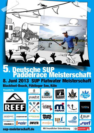 Deutsche SUP Flatwater Paddlerace Meisterschaften2013.  Foto: Veranstalter