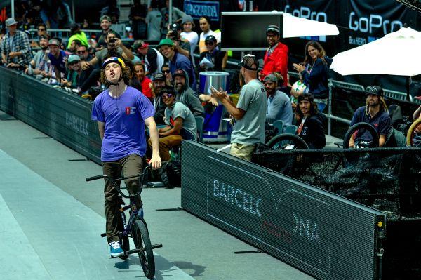 Bruno Hoffmann bei den X Games in Barcelona.  Foto: Tristan Shu / ESPN Images