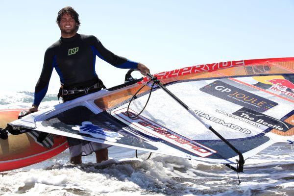 Philip Köster beim PWA Windsurf World Cup Sylt.  Foto: Veranstalter