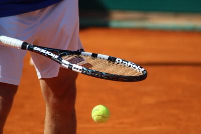 Tennisspieler.  Foto: Frank Leber  / pixelio.de