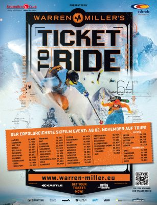 Warren Miller´s Ticket to Ride Filmtour 2013.  Foto: www.skitheworld.de
