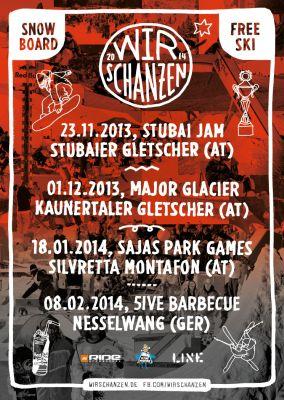 Wir Schanzen Tour: Stubai Jam 2013.  Foto: Veranstalter
