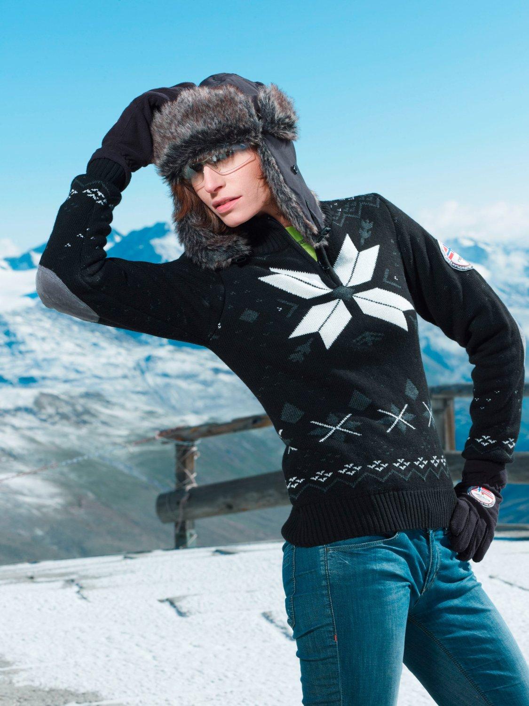 Schicke Skibekleidung muss wärmen.