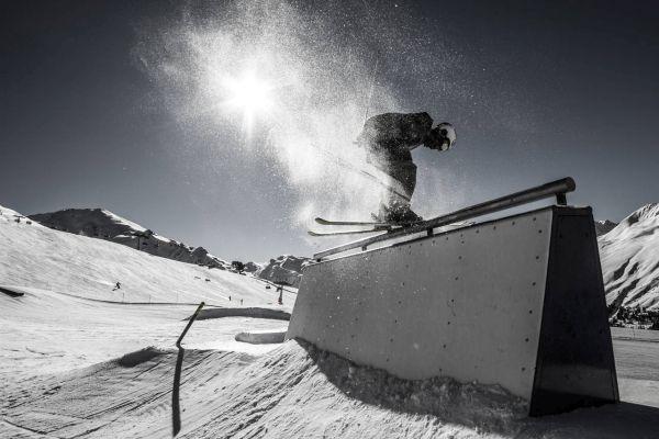 Action im Snowpark Schöneben.  Foto: Florian Albert/QParks