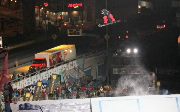 Niklas Mattsson (SWE) beim Big Air von Quebec City.  Foto: © Oliver Kraus