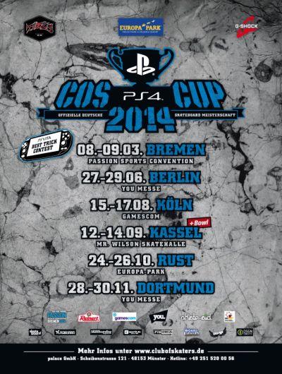 Playstation 4 COS Cup 2014 Poster.  Foto: Veranstalter