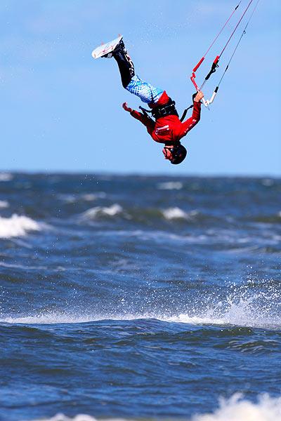 Mario Rodwald bei der Deutschen Meisterschaft im Kitesurfen