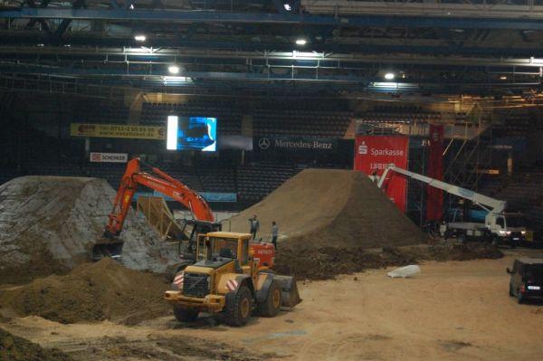 Hall of Dirt 2014: Der Aufbau.  Foto: Veranstalter