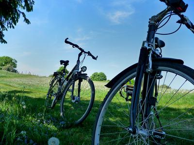 Fahrradfahren im Frühling.  Viola  / pixelio.de