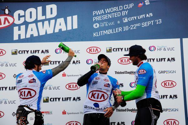 Das Podium beim Cold Hawaii PWA World Cup 2013.  Foto: Veranstalter