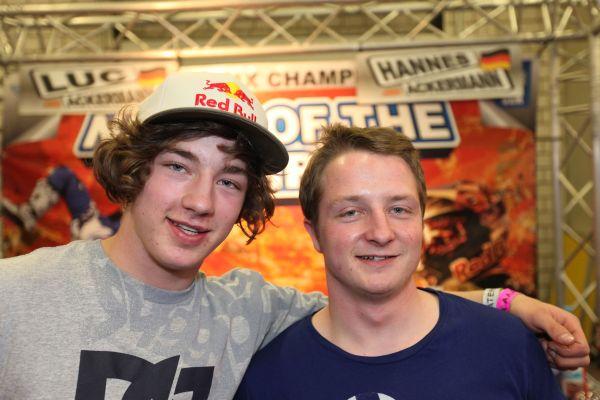 Brüder: Luc und Hannes Ackermann bei der Night of the Jumps.  Foto: Veranstalter