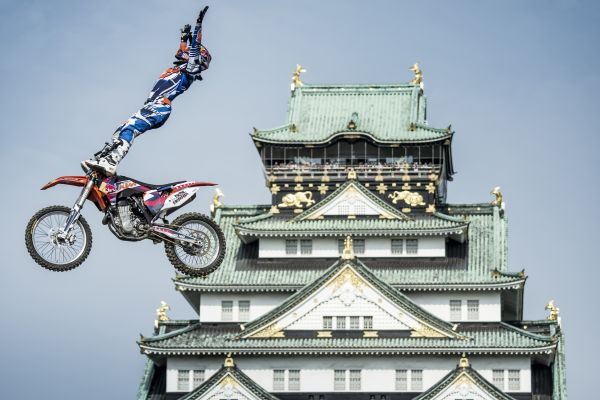 Levi Sherwood bei den Red Bull X-Fighters in Osaka.  Foto: Predrag Vuckovic/Red Bull Content Pool