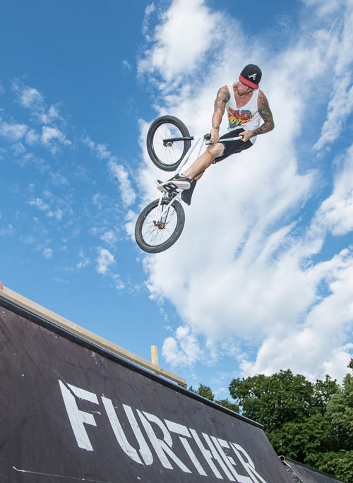 BMXer Perry Peterm�ller.  Foto: Jever Fun